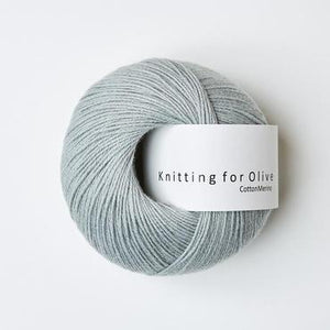 KFO Cotton Merino-Yarn-Knitting for Olive-Dusty Mint Green-The Sated Sheep