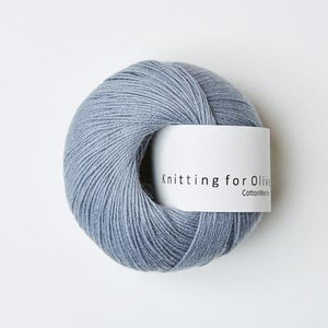 KFO Cotton Merino-Yarn-Knitting for Olive-Elephant Blue-The Sated Sheep