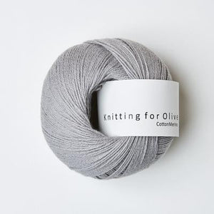 KFO Cotton Merino-Yarn-Knitting for Olive-Mousy Gray-The Sated Sheep