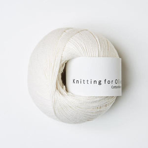 KFO Cotton Merino-Yarn-Knitting for Olive-Natural White-The Sated Sheep