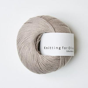KFO Cotton Merino-Yarn-Knitting for Olive-Oat-The Sated Sheep
