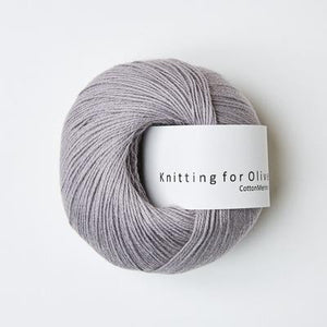 KFO Cotton Merino-Yarn-Knitting for Olive-Purple Elephant-The Sated Sheep