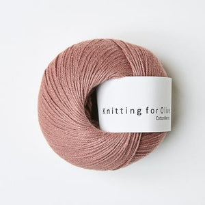 KFO Cotton Merino-Yarn-Knitting for Olive-Terracotta Rose-The Sated Sheep