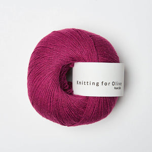 KFO Pure Silk-Yarn-Knitting for Olive-Cherry-The Sated Sheep