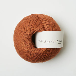 KFO Pure Silk-Yarn-Knitting for Olive-Copper-The Sated Sheep