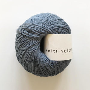 KFO Pure Silk-Yarn-Knitting for Olive-Dove Blue-The Sated Sheep