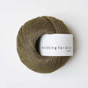 KFO Pure Silk-Yarn-Knitting for Olive-Olive-The Sated Sheep