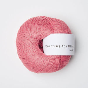 KFO Pure Silk-Yarn-Knitting for Olive-Raspberry Pink-The Sated Sheep