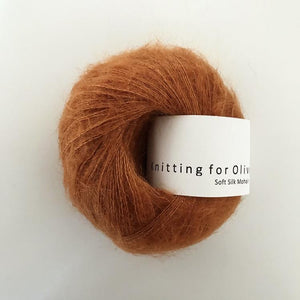 KFO Soft Silk Mohair Lace-Yarn-Knitting for Olive-Autumn-The Sated Sheep