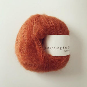 KFO Soft Silk Mohair Lace-Yarn-Knitting for Olive-Burnt Orange-The Sated Sheep