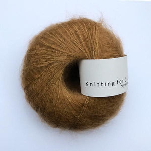KFO Soft Silk Mohair Lace-Yarn-Knitting for Olive-Caramel-The Sated Sheep