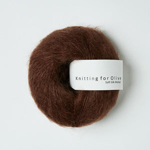 KFO Soft Silk Mohair Lace-Yarn-Knitting for Olive-Chocolate-The Sated Sheep