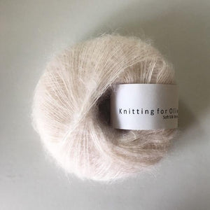 KFO Soft Silk Mohair Lace-Yarn-Knitting for Olive-Cloud-The Sated Sheep
