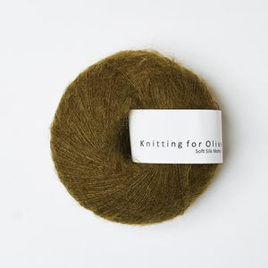 KFO Soft Silk Mohair Lace-Yarn-Knitting for Olive-Copper Green-The Sated Sheep