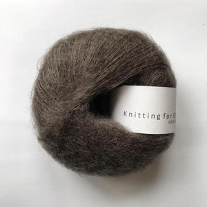 KFO Soft Silk Mohair Lace-Yarn-Knitting for Olive-Dark Moose-The Sated Sheep