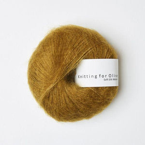 KFO Soft Silk Mohair Lace-Yarn-Knitting for Olive-Dark Mustard-The Sated Sheep