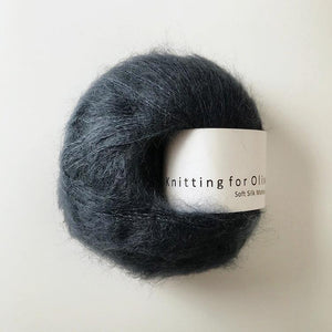 KFO Soft Silk Mohair Lace-Yarn-Knitting for Olive-Deep Petroleum Blue-The Sated Sheep