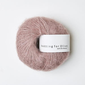 KFO Soft Silk Mohair Lace-Yarn-Knitting for Olive-Dusty Rose-The Sated Sheep