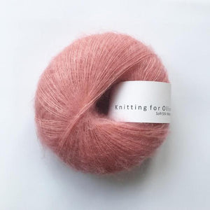 KFO Soft Silk Mohair Lace-Yarn-Knitting for Olive-Flamingo-The Sated Sheep