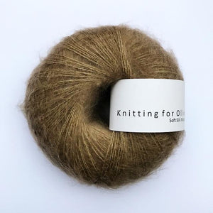 KFO Soft Silk Mohair Lace-Yarn-Knitting for Olive-Hazel Brown-The Sated Sheep