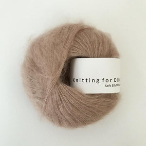 KFO Soft Silk Mohair Lace-Yarn-Knitting for Olive-Mushroom Rose-The Sated Sheep