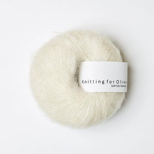KFO Soft Silk Mohair Lace-Yarn-Knitting for Olive-Off White-The Sated Sheep