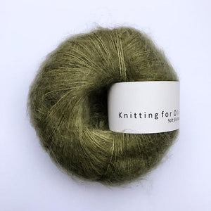 KFO Soft Silk Mohair Lace-Yarn-Knitting for Olive-Olive-The Sated Sheep