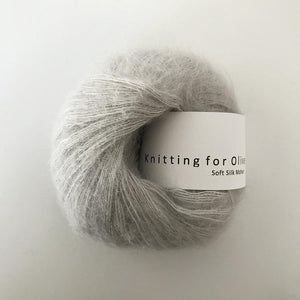 KFO Soft Silk Mohair Lace-Yarn-Knitting for Olive-Pearl Gray-The Sated Sheep