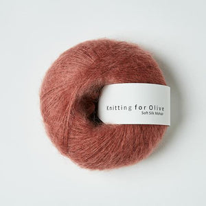 KFO Soft Silk Mohair Lace-Yarn-Knitting for Olive-Plum Rose-The Sated Sheep