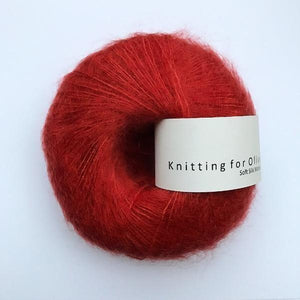 KFO Soft Silk Mohair Lace-Yarn-Knitting for Olive-Pomegranate-The Sated Sheep