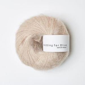 KFO Soft Silk Mohair Lace-Yarn-Knitting for Olive-Powder-The Sated Sheep