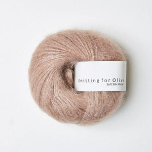 KFO Soft Silk Mohair Lace-Yarn-Knitting for Olive-Rose Clay-The Sated Sheep
