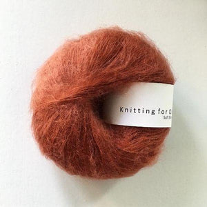 KFO Soft Silk Mohair Lace-Yarn-Knitting for Olive-Rust-The Sated Sheep