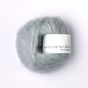 KFO Soft Silk Mohair Lace-Yarn-Knitting for Olive-Soft Blue-The Sated Sheep