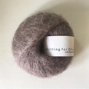 KFO Soft Silk Mohair Lace-Yarn-Knitting for Olive-Taupe-The Sated Sheep