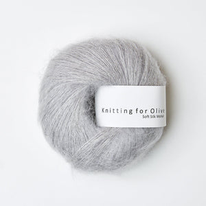 KFO Soft Silk Mohair Lace-Yarn-Knitting for Olive-Zinc-The Sated Sheep