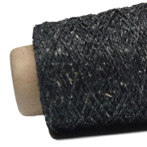 Kinu Lace-Yarn-Ito Yarns-387 Charcoal-The Sated Sheep