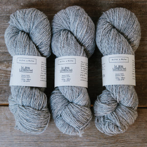 Le Gros Lambswool-Yarn-Biches et Buches-Light Grey-The Sated Sheep