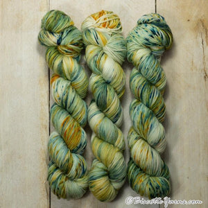 Lumos Fingering-Yarn-Biscotte Yarns-Green Gables-The Sated Sheep