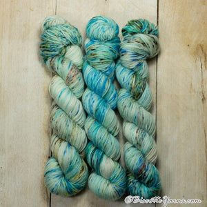 Lumos Fingering-Yarn-Biscotte Yarns-Surf And Turf-The Sated Sheep
