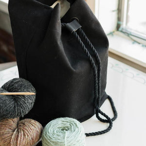 Makers Backpack-Bags-Quince and Co-Black-The Sated Sheep