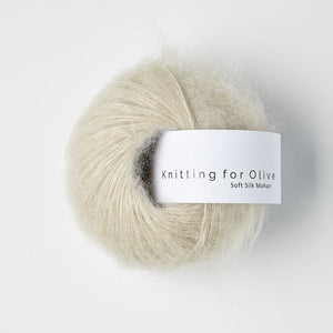 KFO Soft Silk Mohair Lace-Yarn-Knitting for Olive-Marzipan-The Sated Sheep