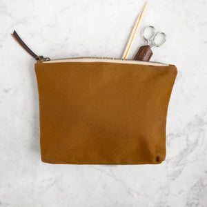 Canvas Tool Pouch-Bags-Quince and Co-camel-The Sated Sheep