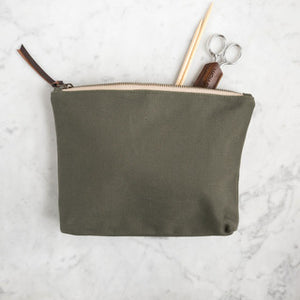 Canvas Tool Pouch-Bags-Quince and Co-olive-The Sated Sheep
