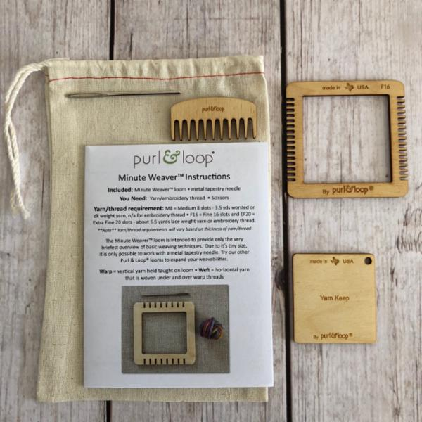 Minute Weaver-Weaving-Purl & Loop-The Sated Sheep