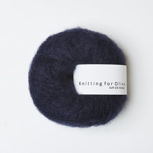 KFO Soft Silk Mohair Lace-Yarn-Knitting for Olive-Navy-The Sated Sheep