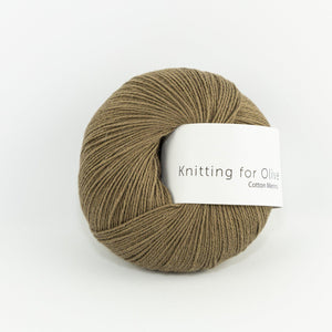 KFO Cotton Merino-Yarn-Knitting for Olive-Nut Brown-The Sated Sheep