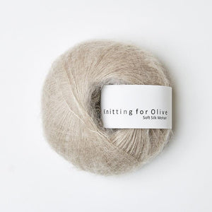 KFO Soft Silk Mohair Lace-Yarn-Knitting for Olive-Oat-The Sated Sheep