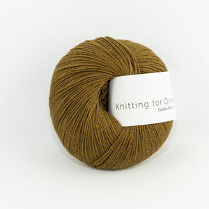 KFO Cotton Merino-Yarn-Knitting for Olive-Ocher Brown-The Sated Sheep