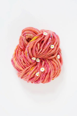 Daisy Chain-Yarn-Knit Collage-Peony Pink-The Sated Sheep